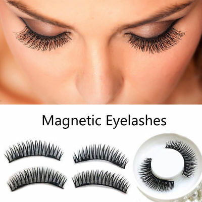 82ae938d75d 2Pairs Dual Magnetic False Eye lashes 3D Ultra Thin Natural Reusable  Eyelashes P