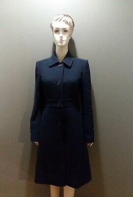 J Crew Double Cloth Wool Lady Day Coat 4 Navy Thinsulate Euc Mint