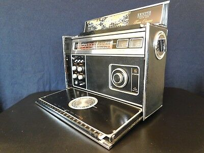 VINTAGE OLD 1980s CLASSIC ZENITH 7000 ANTIQUE TRANSOCEANIC RADIO STILL WORKING