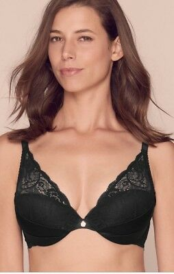 BNWOT M/&S Rosie for Autograph Luxurious Silk/&Lace High Apex Plunge Bra 32F