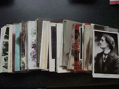 Job Lot of 100+ Old Pre WW2 Postcards. Mixed Subject Matter. Various Ages. B