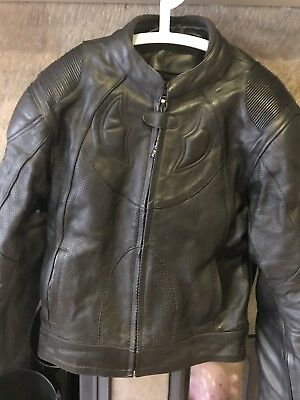 mens leather motorcycle jacket large