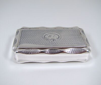 Beautiful 19thC French Solid Sterling Silver Snuff Box