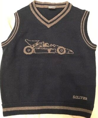 Boys knitted vest / waistcoat size 4-5 years by  S.Oliver