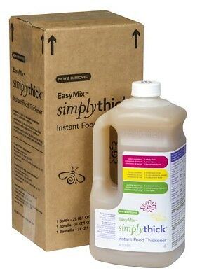 Simply Thick 2L (liter) Easy Mix Food Thickener Bottle with Pump p/n S106005