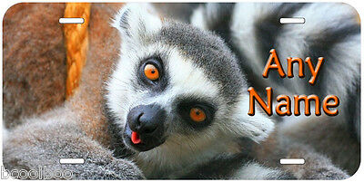 Lemur Any Name Personalized Novelty Car Auto Aluminum License Plate