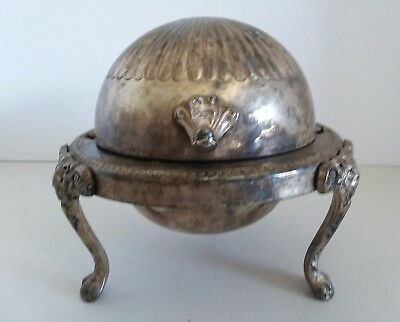 F.B. Rogers  Chippendale Style Silver Plated Butter Dish