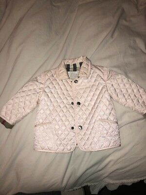 Burberry Jacket Baby In Light Pink Size 9 Months
