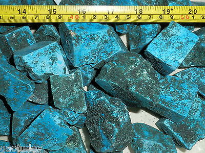 Turquoise Substitute Dyed Howlite Stone 20 to 250 g size pieces 500 gram Lot