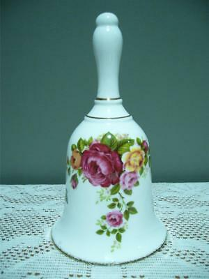 Collectable Floral Bell - Bone China - Cottage Rose - Country Roses Style - Vgc