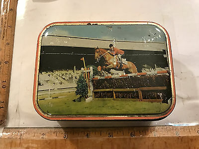Equestrian Horse Vintage Metal Sharps Toffee Candy Tin Maidstone Kent England