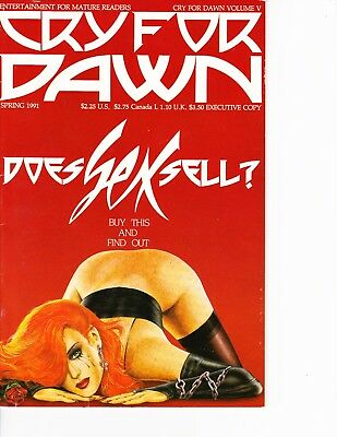Cry for Dawn #5 Executive Copy, Rare! Mature, Nudity FREE SHIPPING @ $30 in USA!