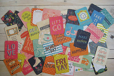 """'wonderful' Project Life Cards By Becky Higgins - 3"""" X 4"""" - 50 Cards"""