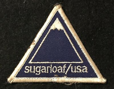 SUGARLOAF/USA Vintage Skiing Ski Patch Carrabassett Maine ME Resort Travel