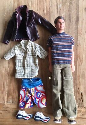 Exc Cond Barbie Ken Doll With Extra Cloth & Shoes.  Bulk Lot