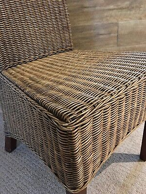 cane dining chairs x8