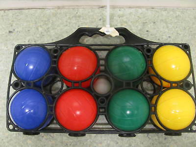 8 Ball Bocce / Boule / Petanque Ball Set with Carry Frame Made In ITALY