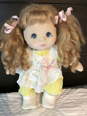 🍓Strawberry Blonde 🍓Midpart Blue Eyed Charcoal/Pink Makeup My Child Doll RARE