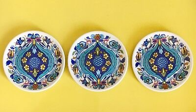 Exc Cond Villeroy & Boch  Izmir Porcelain Mini Plates X 3 Made In Luxembourg
