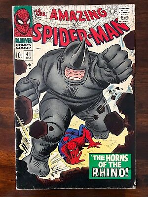 The Amazing Spiderman #41 First Appearance Of Rhino