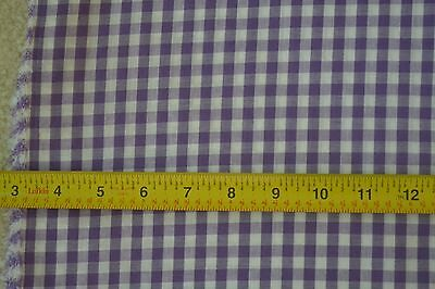 """32"""" Long x 44"""" Wide, Purple & White Cotton/Polyester Gingham, 1/4"""", M5849"""