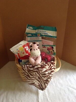 Welcome! New Baby Girl Baby Shower Gift Basket - New