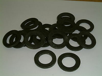 10 Rubber Washers 30mm O/D X 19mm I/D X 3mm Thk