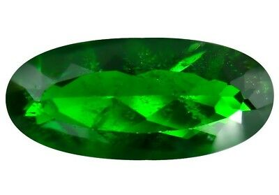 NATURAL CHROME DIOPSIDE GEMSTONE LOOSE 19.6 x 8.8 mm. AWESOME GREEN  LARGE OVAL