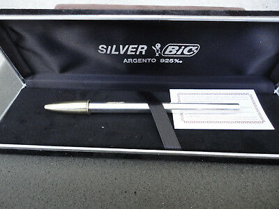 penna BIC sterling silver e gold 925