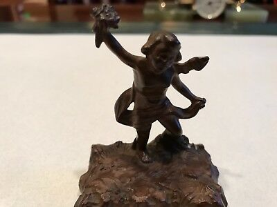 "Very rare antique bronze ""angel""  ""cast by Griffoul Newark"""