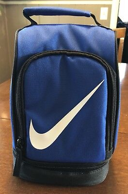 d3e23b53dee5 Nike Lunch Box Tote 4 boys girls 2 Compartments Insulated Dome School Bag  Blue