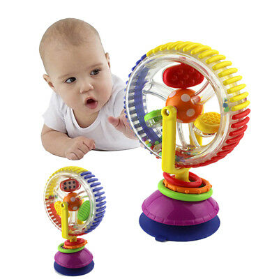 Baby Toys Rattle Rotating Wheel Creative Educational fun Tricolor Multi touch