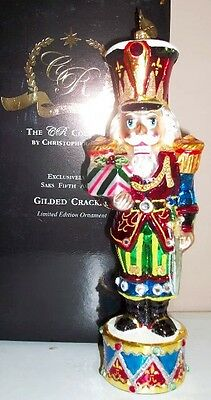 Retired Radko Gilded Cracker Ltd Ed. Saks Fifth Avenue Store Exclusive Ornament!