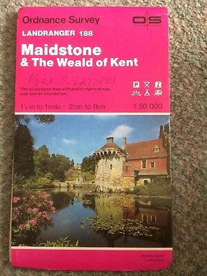 Landranger Maps: Sheet 188: Maidstone and the Weald of Kent (1985)
