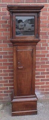George III antique solid country farmhouse oak longcase grandfather clock case