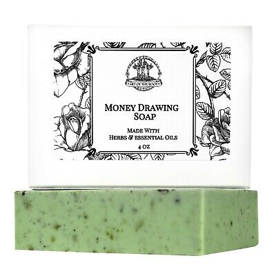 Money Drawing Shea Soap Prosperity, Cash, Wealth, Abundance Hoodoo Wiccan Pagan