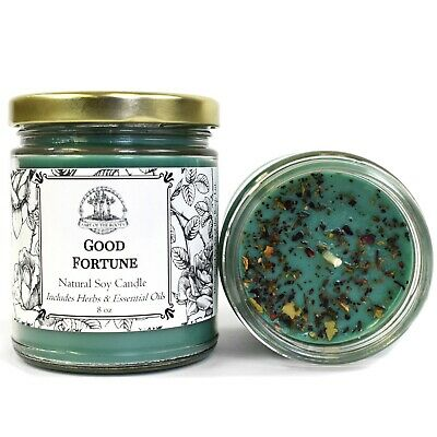 Good Fortune Soy Spell Candle Prosperity Abundance Blessings Wiccan Pagan Hoodoo