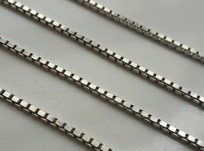 """Long Hallmarked Birmingham Vintage Solid Sterling Silver Box Chain Necklace 20"""""""