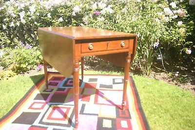 Regency mahogany pembroke table with drawer