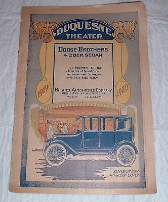 Dodge Brothers 4 Door Sedan 1919-20 Hiland Automobile Co. / Duquesne Theater