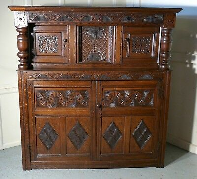 17th  Century Carved Oak Court Cupboard,