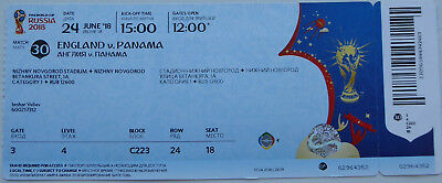 Used TICKET 2018 WM World Cup #30 ENGLAND - PANAMA Russia MINT !!!