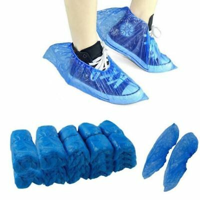 100 pcs Disposable Fabric Waterproof Blue Shoe Covers Overshoes Boot