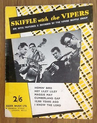 Vintage Sheet Music entitled Skiffle with the Vipers - Wally Whyton - 1950s