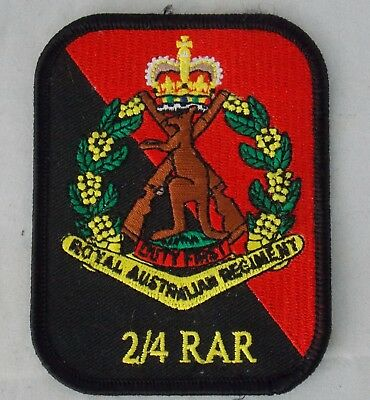 2Nd/4Th Bn Rar Patch With Skippy Badge  Heat Adhesive Backing 70 X 90Mm Infantry
