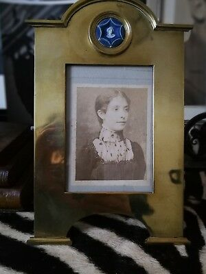 Stunning Very Rare Original Cameo  Heavy Brass Fully Marked  Photo Frame