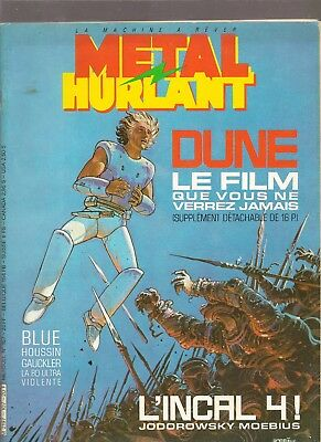 MOEBIUS / JODOROWSKY METAL HURLANT n°107 avec supplement