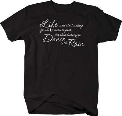 Large Dance In The Rain Inspirational Quotes Wall Decal Art Vinyl