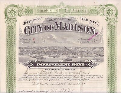 1909 bond for the City of Madison (Indiana)