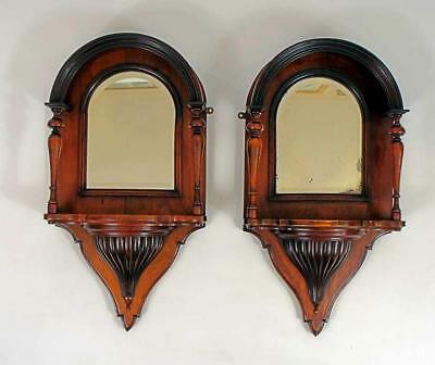 Pair of fine Georgian Mahogany mirrored shelf brackets in excellent condition